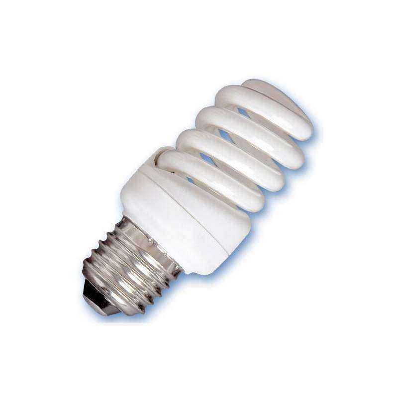 Caja 10 bombillas bajo consumo microespiral 15w e27 2700k for Bombilla bajo consumo e27