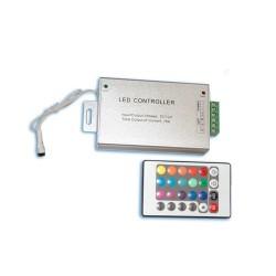 Controlador para tiras de LED RGB con mando a distancia