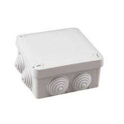 Caja de empalme superficie gris estanca 105x105x40mm IP54.