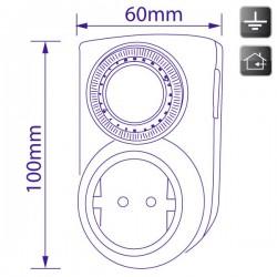 Mini-temporizador mecánico diario 24 horas
