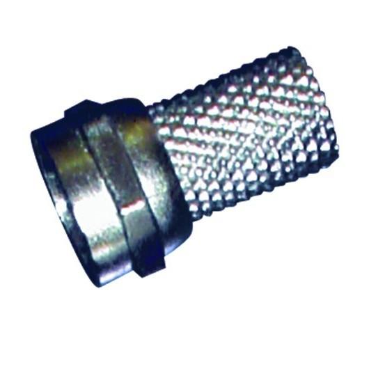 Conector F macho a torsión para cable coaxial de 7 mm.