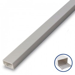 Mini Canaleta Adhesiva PVC - 8 x 12mm