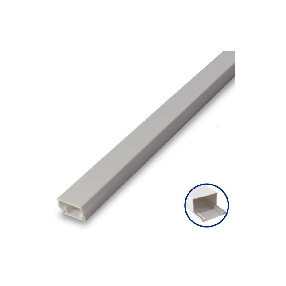 Mini Canaleta Adhesiva PVC - 8 x 12mm