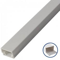 Mini Canaleta Adhesiva PVC de 2 metros - 12 x 12mm