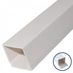 Canaleta fijación a tornillo PVC de 2 metros - 25 x 25mm