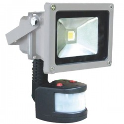 Proyector LED 10W 700lm 6000K con sensor