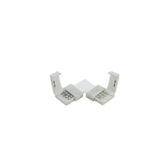 """Conector en """"L"""" para tiras de led SMD3528/2835 de 8 mm"""