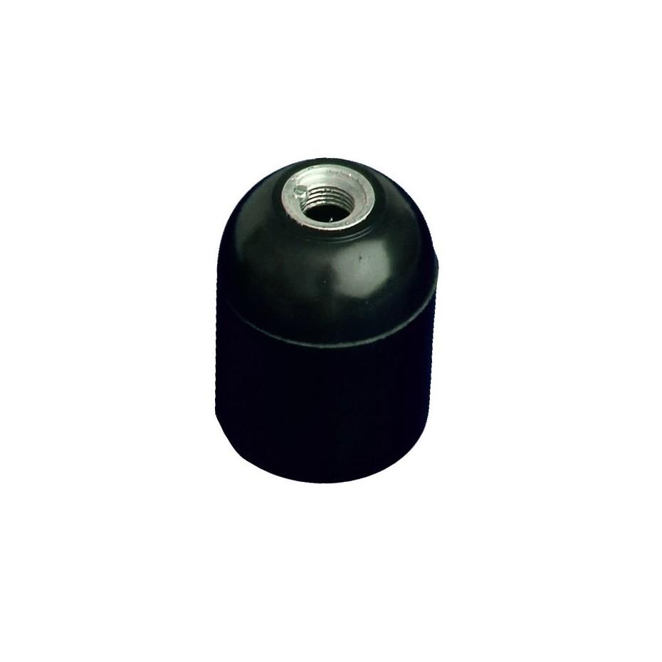 Portalámparas casquillo E27 negro, baquelita liso 4A 250V