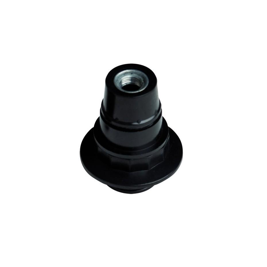 Portalámparas casquillo E14 negro, baquelita semiroscado 2A 250V