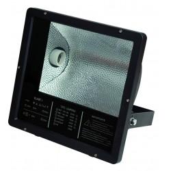 Proyector halogeno con equipo incorporado y casquillo E40-230V.-IP65, Negro. 250W.