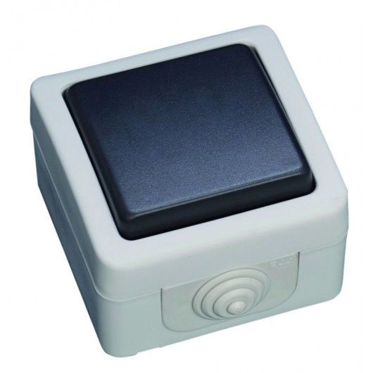 Interruptor serie estanca, Uso exterior. IP44, 10A, 250V- 50Hz.