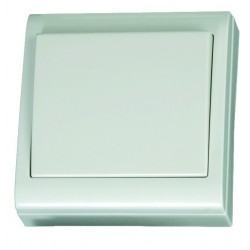 Interruptor doble polo superficie blanco LG80 Focus, 80x80mm. 10A, 250V- Policarbonato.