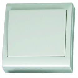 Interruptor de superficie blanco LG80 Focus, 80x80mm. 10A, 250V- Policarbonato.
