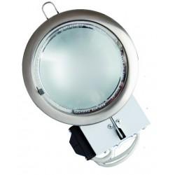 Mini-Downlight empotrable redondo de bajo consumo. Niquel Satin, 2x9W.