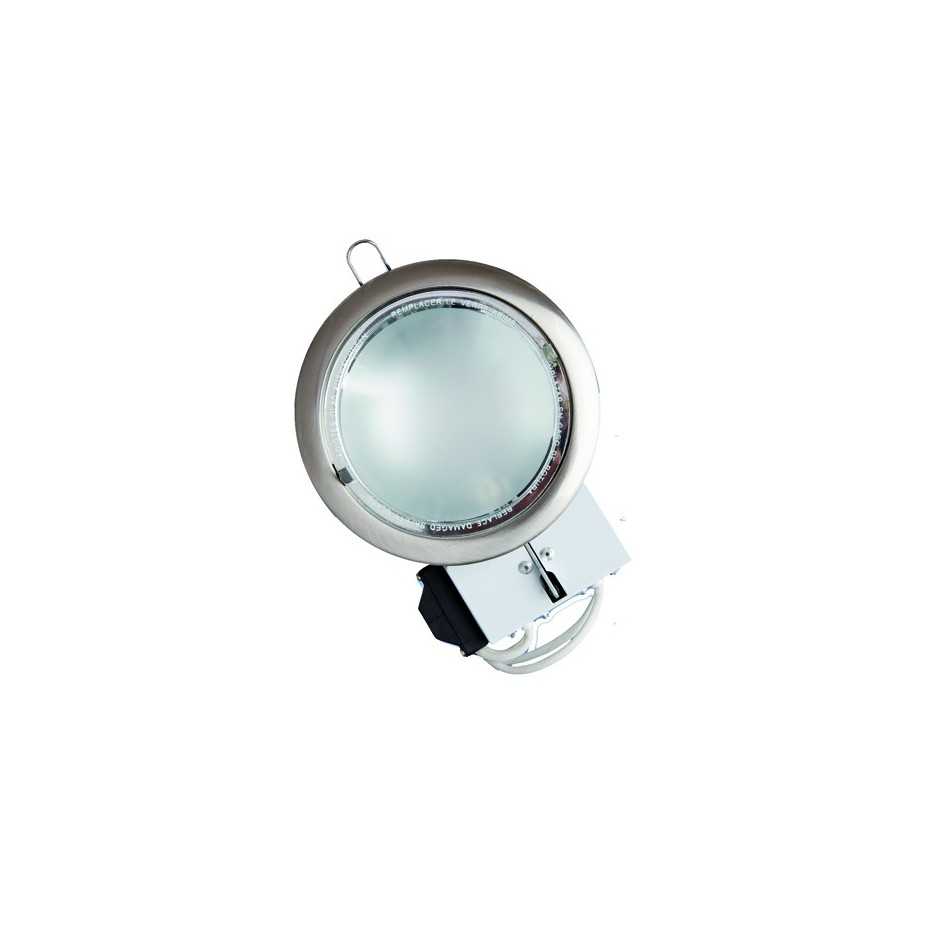 Mini-Downlight empotrable redondo de bajo consumo. Bronce, 2x9W.