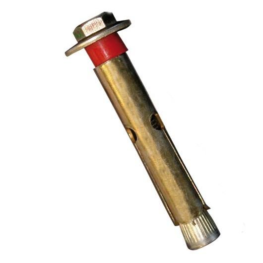 Blister de 2 tornillos metalicos para hormigon 60mm 8mm.