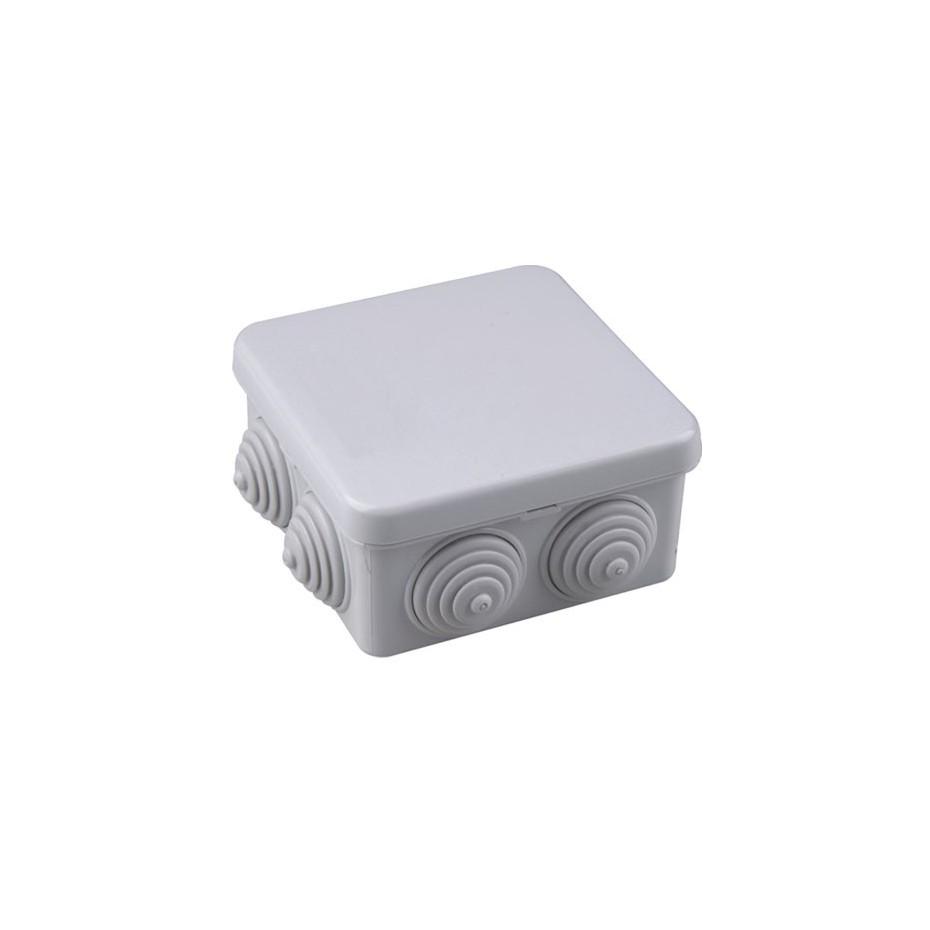 Caja de empalme gris estanca 80x80x40mm IP54.