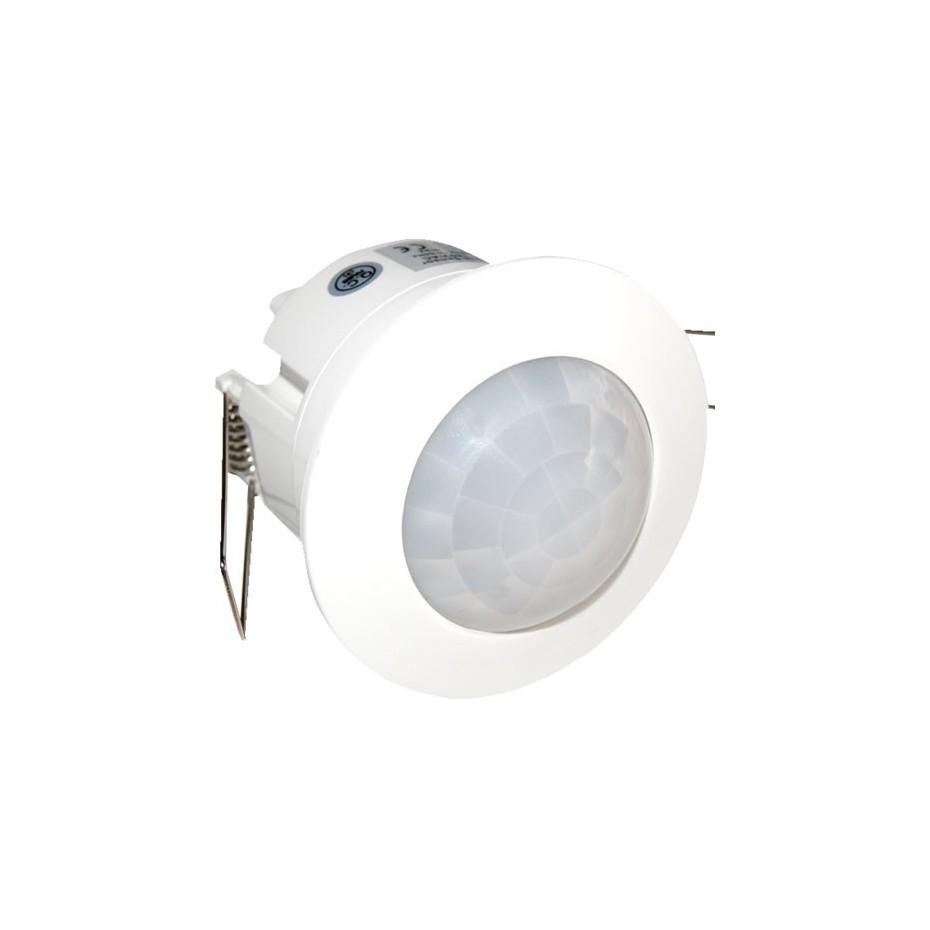 Detector de movimiento de empotrar techo blanco 360º 230V 1200W.
