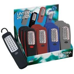 Expositor 12 uds. Linterna 24 LEDs.