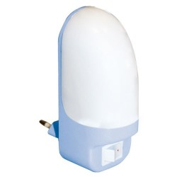 Luz de noche LED con interruptor 0,7W 230V - En Blister.