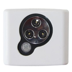 Push-Light 3 LEDs sensor movimiento, Usa 3 pilas R3 (AAA) - En Blister.