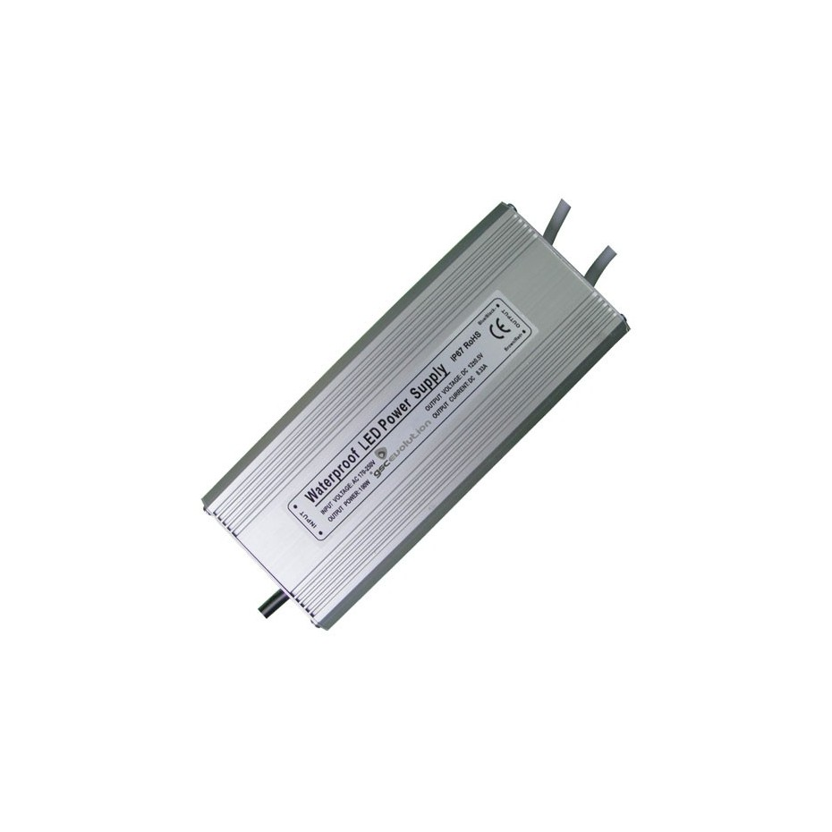 Transformador estanco IP67 para tiras de LED 200 Watios