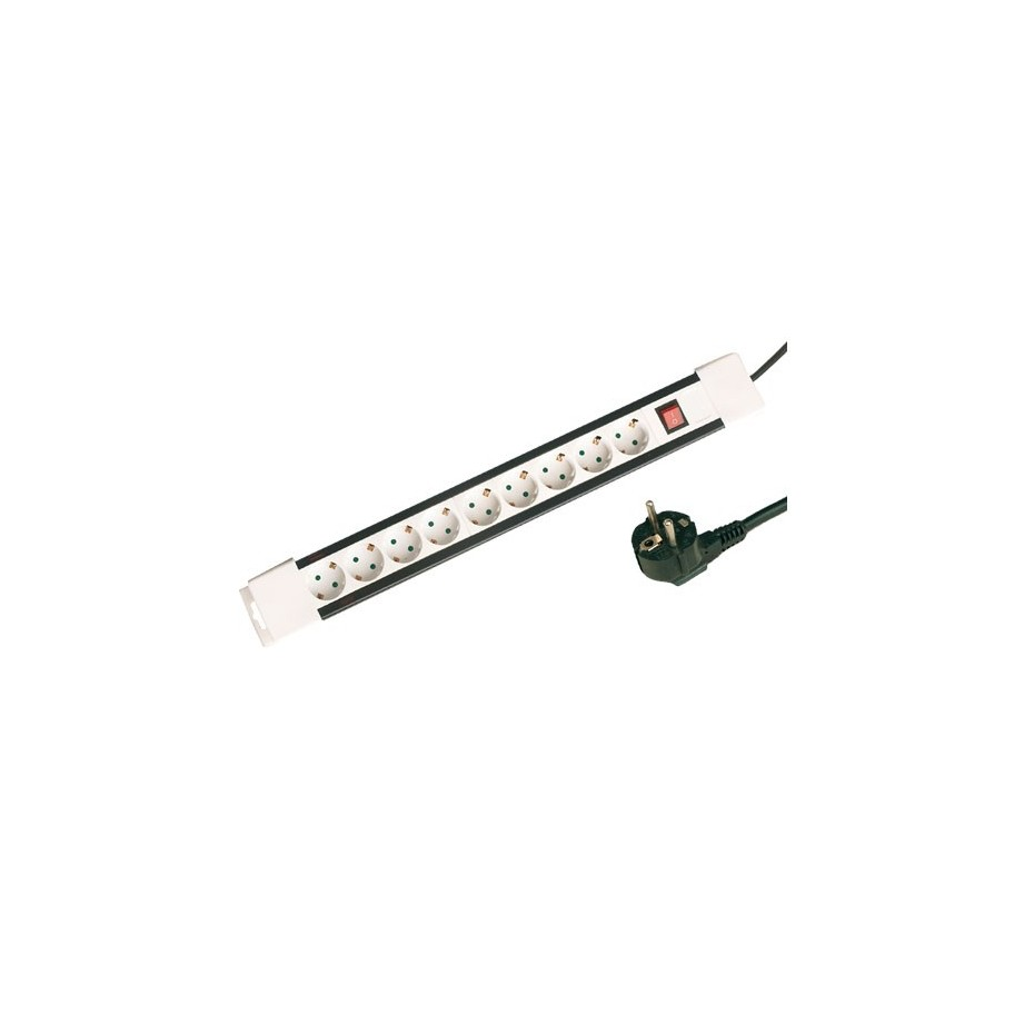 Base múltiple de 9 tomas (9T) con cable eléctrico 1,5 Metros.