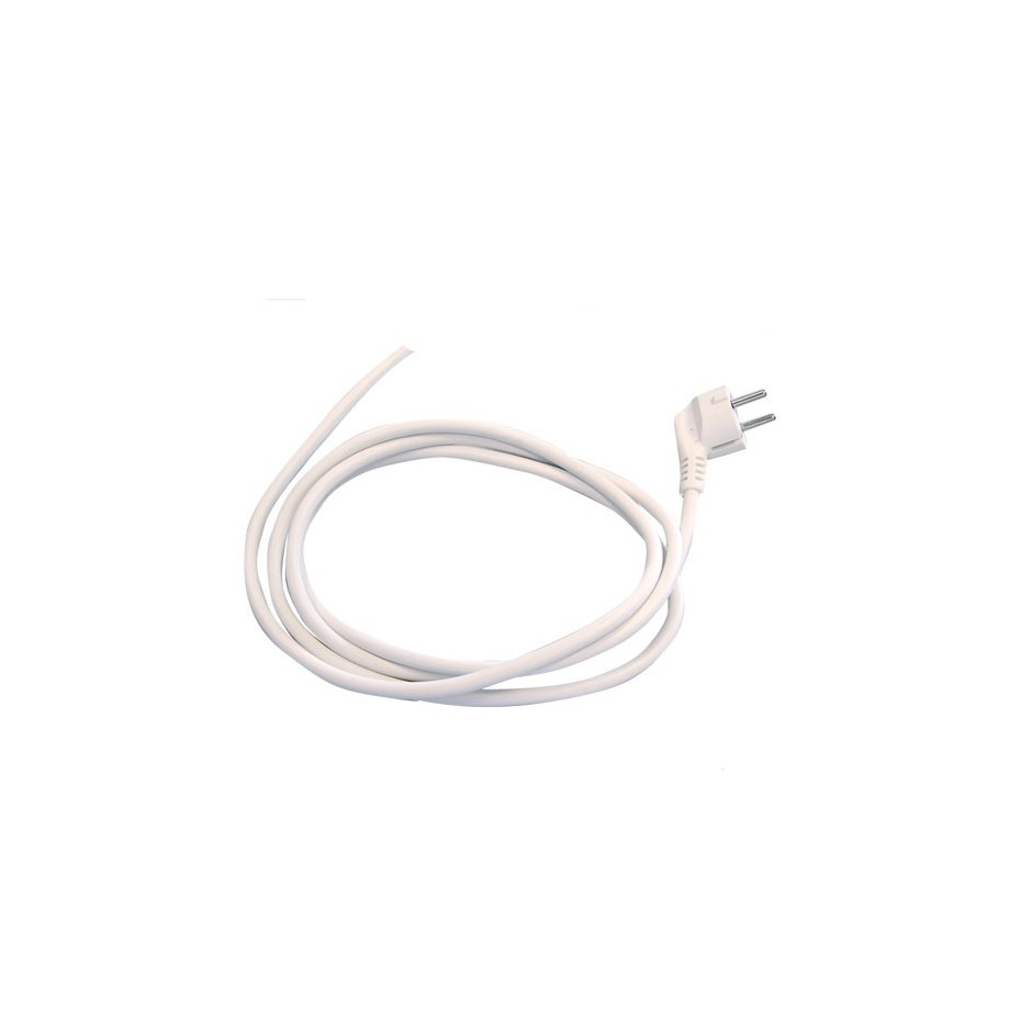 Conexión de cable neopreno sucko (3x1mm) 3 Metros 10/16A 250V Blanco.
