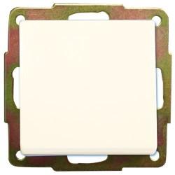 Conmutador de  empotrar blanco 56x56mm.10A, 250V.