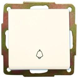 Pulsador de empotrar campana blanco 56x56mm.10A, 250V.