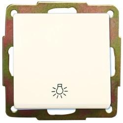 Pulsador de empotrar luz blanca blanco 56x56mm.10A, 250V.
