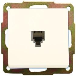 Base de empotrar TelefTelefono (6p6c) Blanca, 56x56mm.