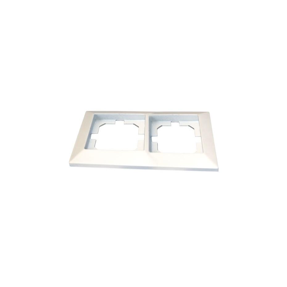 Embellecedor de empotrar Blanco para 2 modulo/hueco 82x154cm.