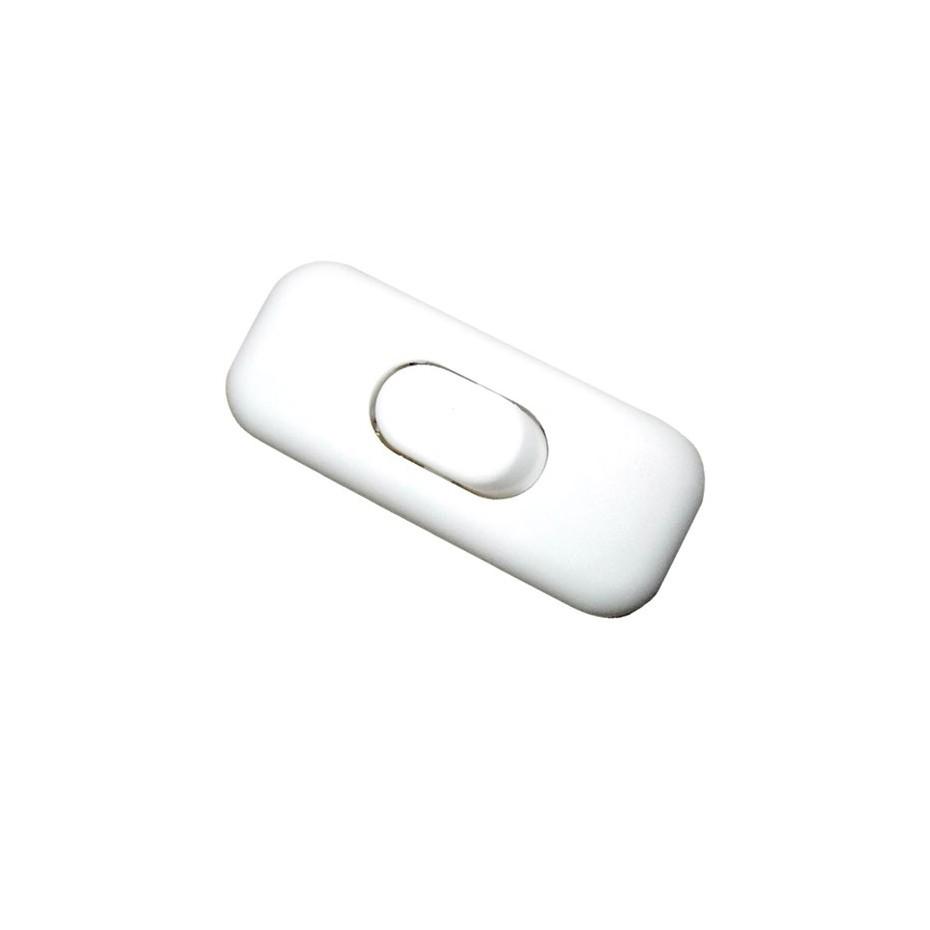 Interruptor de paso, 3A. 250V blanco.