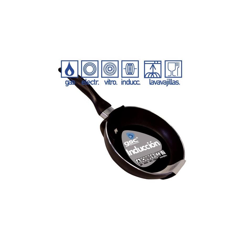 Sartén de inducción de 3 mm. de grosor, de 220 mm.
