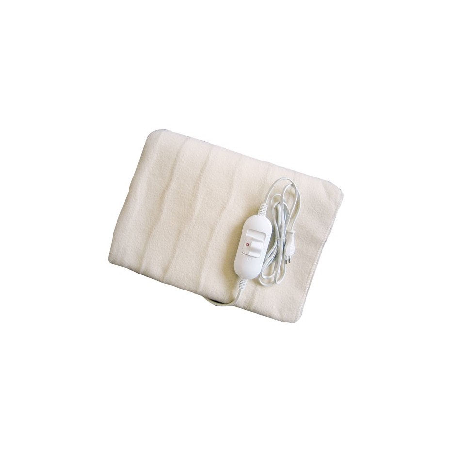 Manta electrica sencilla 150xx180cm. 60W- Blanca.