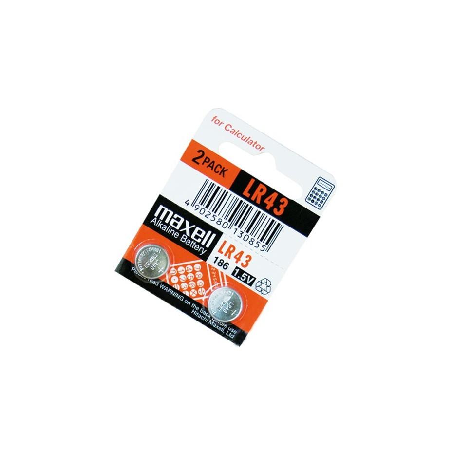 Caja 10 u. Pila alcalina LR43 1,5 V Maxell