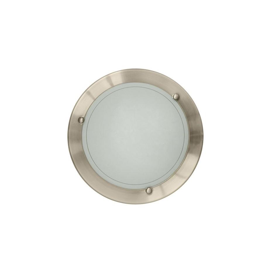 Plafón de techo redondo de aluminio. E27, 20W (60W) 230C.IP20 uso esteriores.