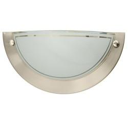 Aplique de pared semicircular de aluminio. E27, 20W (60W) 230V.IP20 uso interiores.