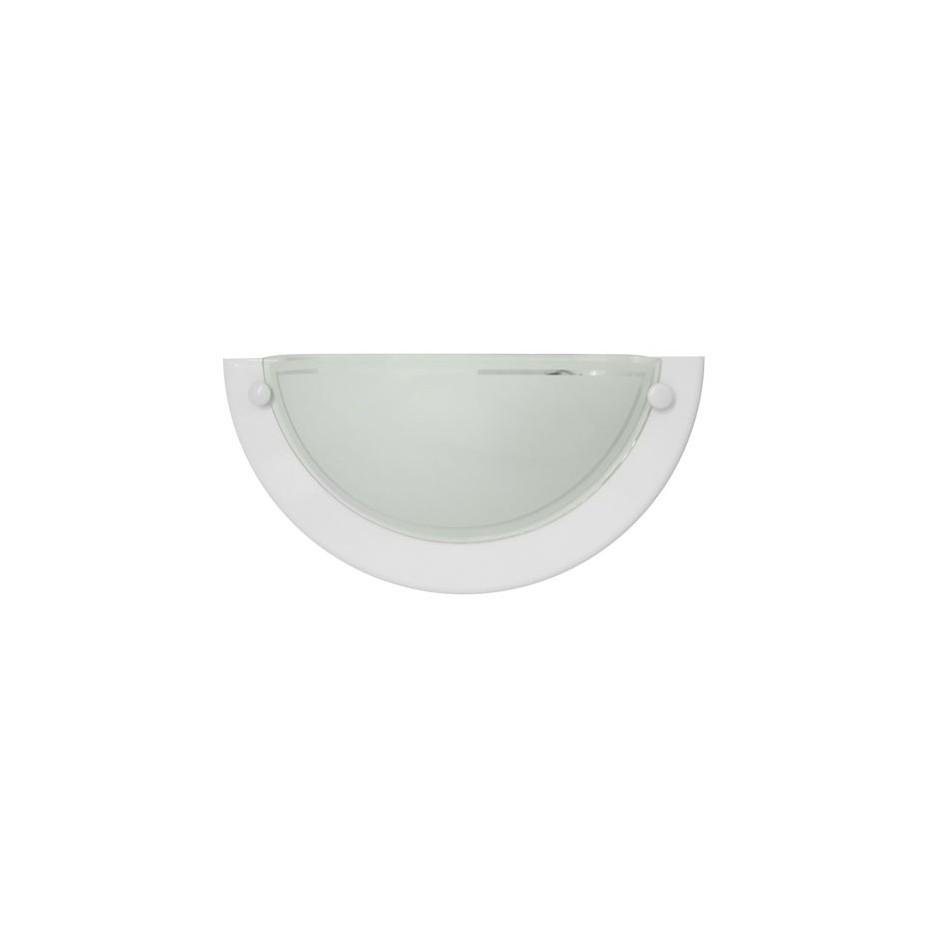 Aplique de pared semicircular Blanco, E27 20W (60W) IP20, Uso interiores.