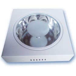 Downlight superficie cuadrado , 2xE27, 2x25W - Niquel Satin.