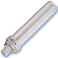 Caja 10 bombillas bajo consumo electrónica PLC G24q 26W 4200K fría