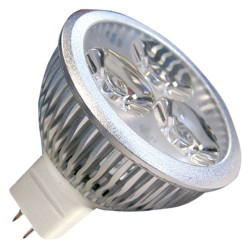 Bombillas LED 4,5W (3x2W) MR16 12V 2700K cálida
