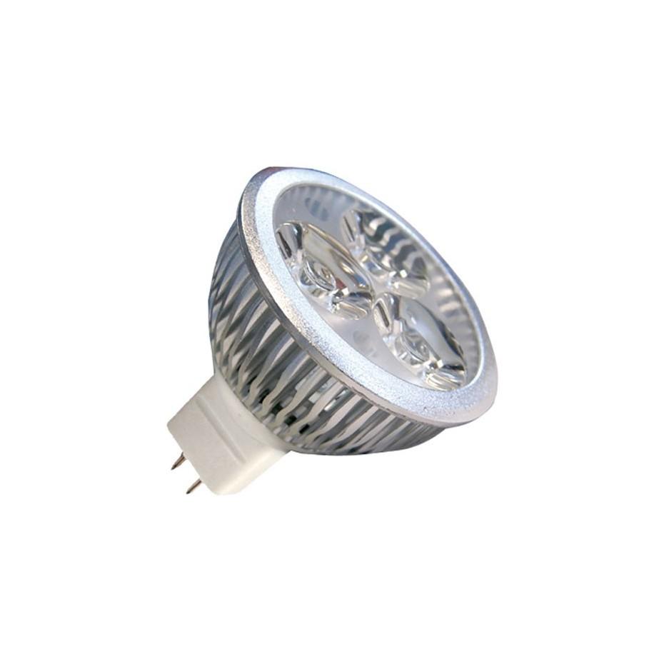 Caja 10 bombillas Dicroica 3x2W (6W) LED ultrabrillo, 12V casquillo MR-16  fria 6400K