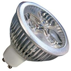 Bombillas 3 LEDs GU10 4,5W 38º 6400K fría