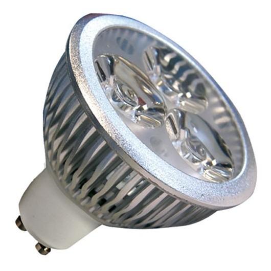 Caja 10 bombillas de 3 LEDs GU-10 3x2W (6W) 30/45º 6400K fría
