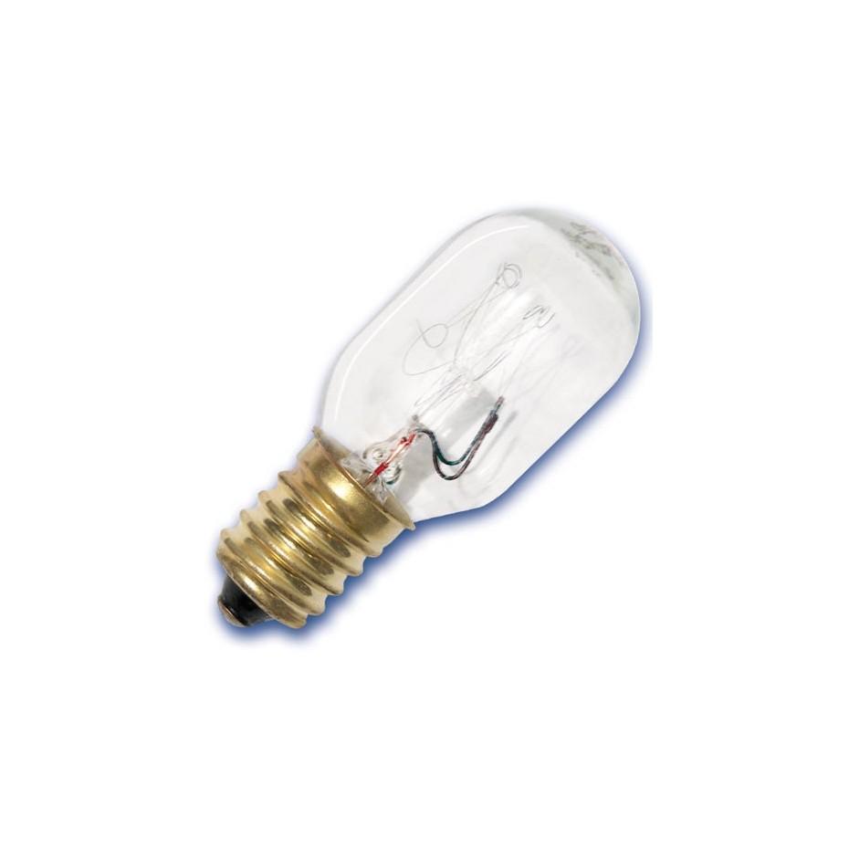 Caja 10 bombillas frigoríficos tipo tubular 240V 15W E14