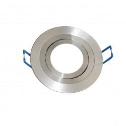 Aro empotrable basculante liso redondo de Aluminio de 90 mm.