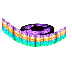 Rollo de 5 metros de tira de LED multicolor RGB