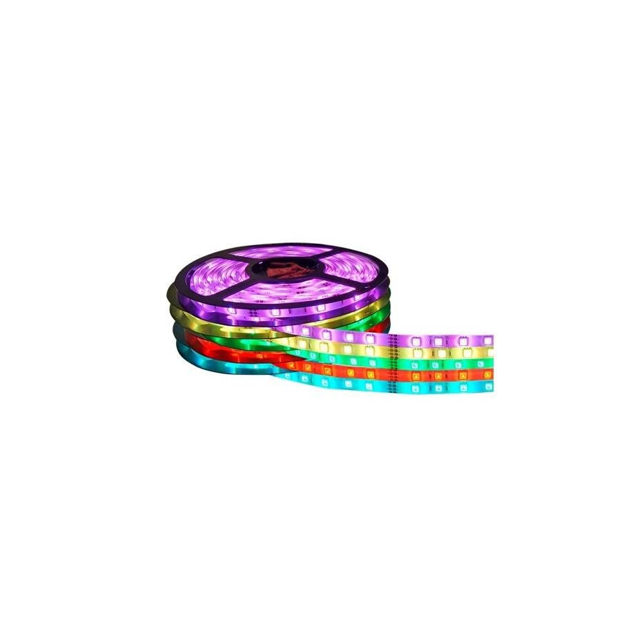 Rollo de 5 metros de tira de LED multicolor RGB